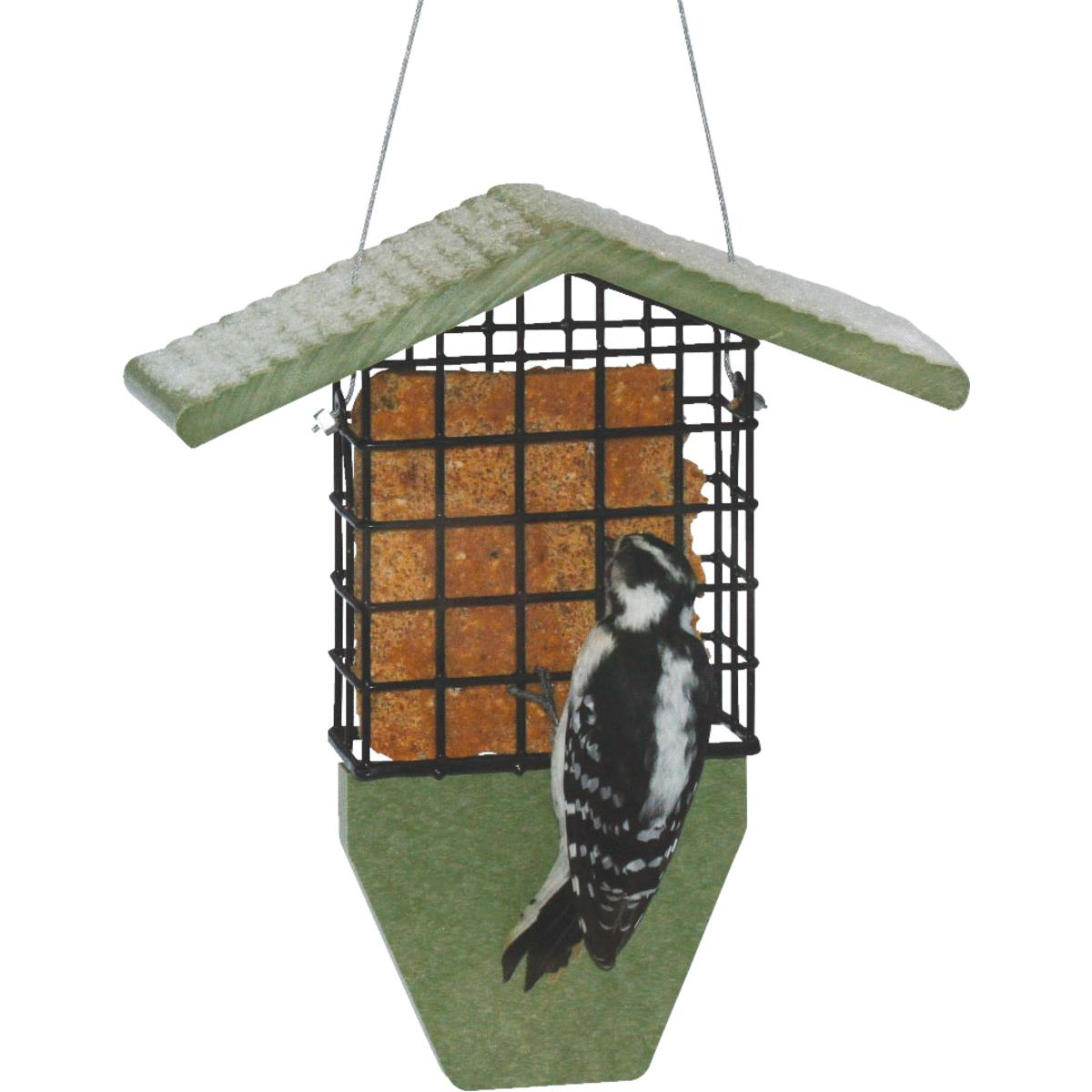 6 Pack Stokes Select Green Steel Hanging 1 Cake Bird Food Suet Feeder 38092