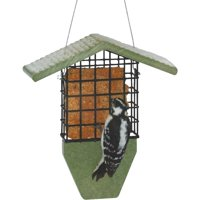 Bird's Choice Green Solutions Green 1-Cake Plastic Tail Prop Suet Feeder GSTP