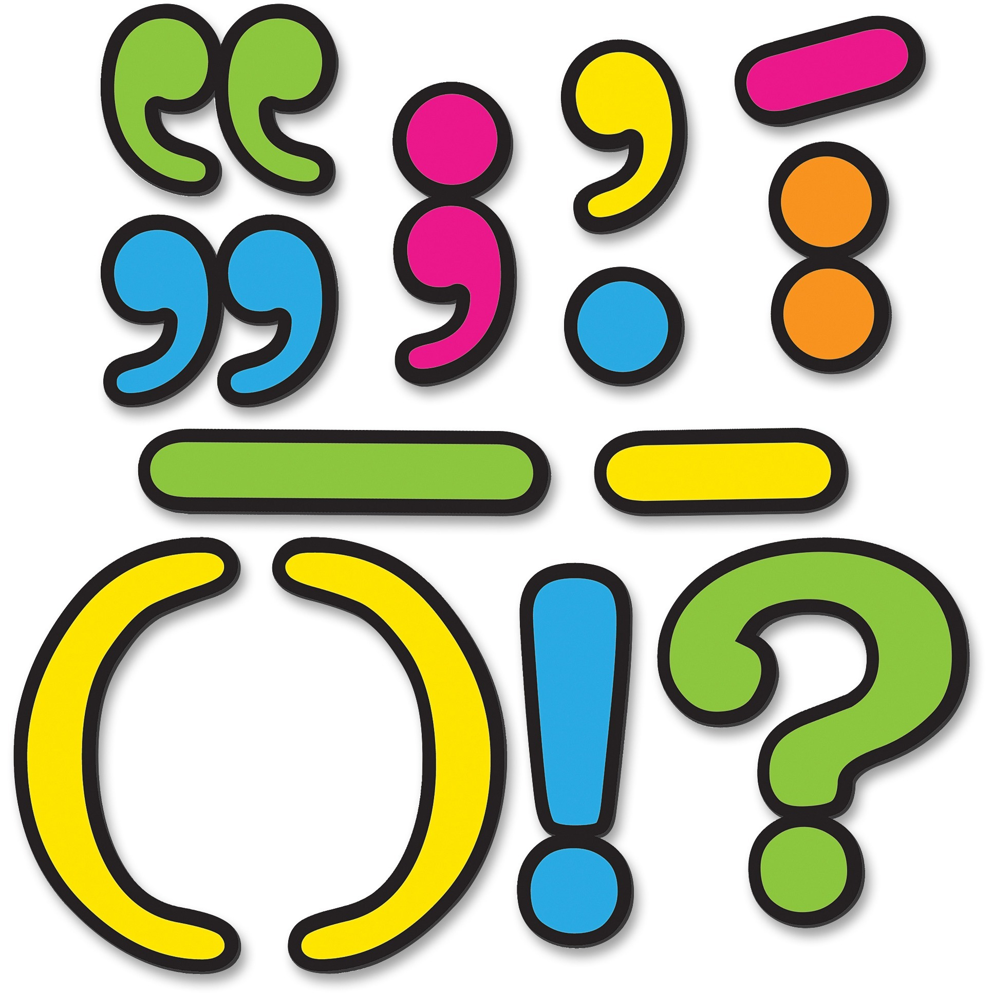 Teacher Created Resources, TCR77220, Punctuation Magnetic Accents, 32 / Set, Multicolor