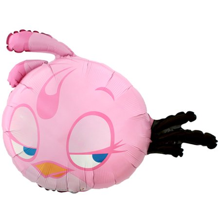 Angry Birds Pink Supershape Foil Mylar Balloon (1ct)](Angry Bird Balloon)