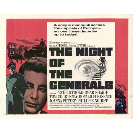 The Night of the Generals POSTER Movie Mini Promo for $<!---->