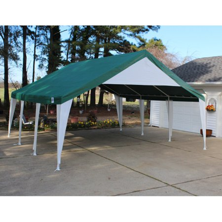 King Canopy 20 X 20 Ft  Green And White Event Tent