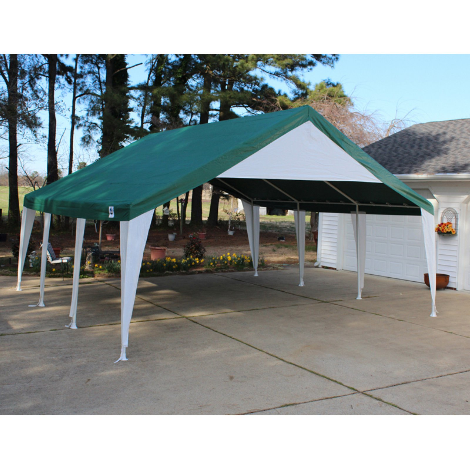 King Canopy 20 x 20 ft. Green and White Event Tent  sc 1 st  Walmart & King Canopy 20 x 20 ft. Green and White Event Tent - Walmart.com