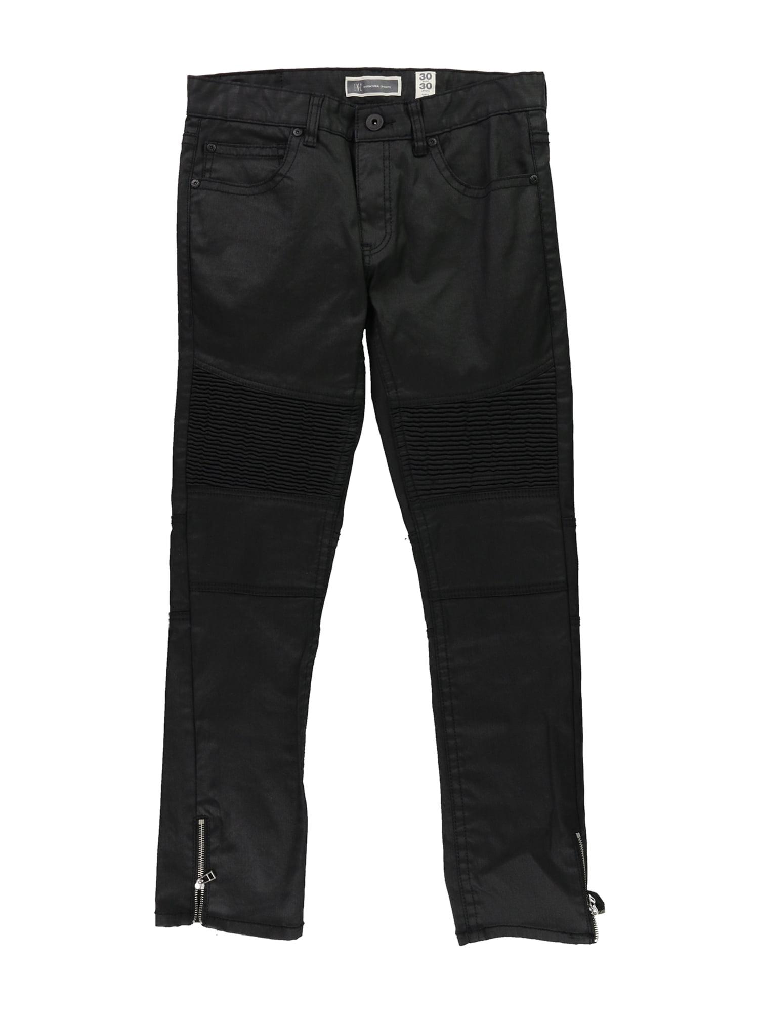 I-N-C Mens Matrix Skinny Fit Jeans black 30x30