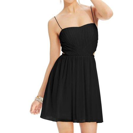 Hailey Logan Womens Juniors Cutout Pleated Semi Formal Dress