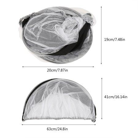 Yosoo Mosquito Net for Baby Stroller, Sunshade Cover for Pram, Mutifuntional Sunshade Cover Mosquito Net for Baby Stroller Pram Baby Pushchair Buggy - image 6 of 7