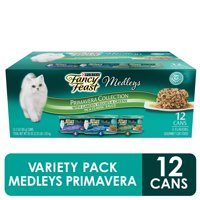 (12 Pack) Fancy Feast Gravy Wet Cat Food Variety Pack, Medleys Primavera Collection, 3 oz. Cans