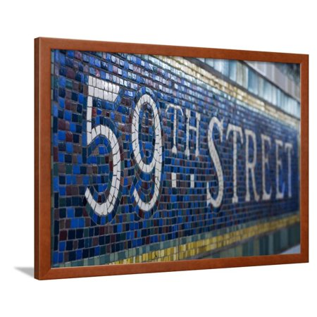 59Th Street Subway Station Sign Framed Print Wall Art By Jon Hicks
