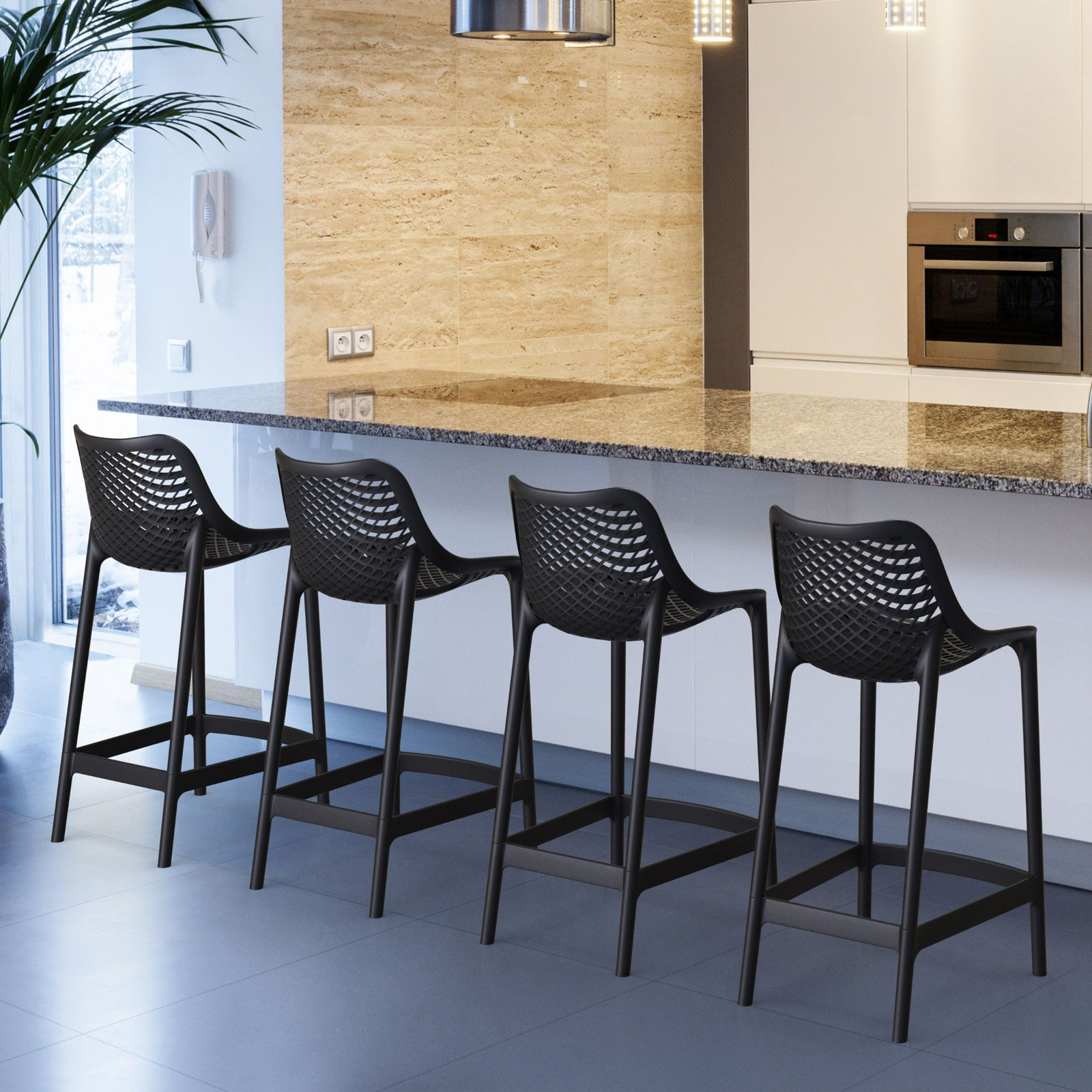 Compamia Air 25.6 in. Counter Height Bar Stool Set of 2 by Compamia