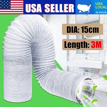 "3 Meter 6"" Diameter Outlet Flexible Air Conditioner Exhaust Pipe Window Vent Hose Tube"
