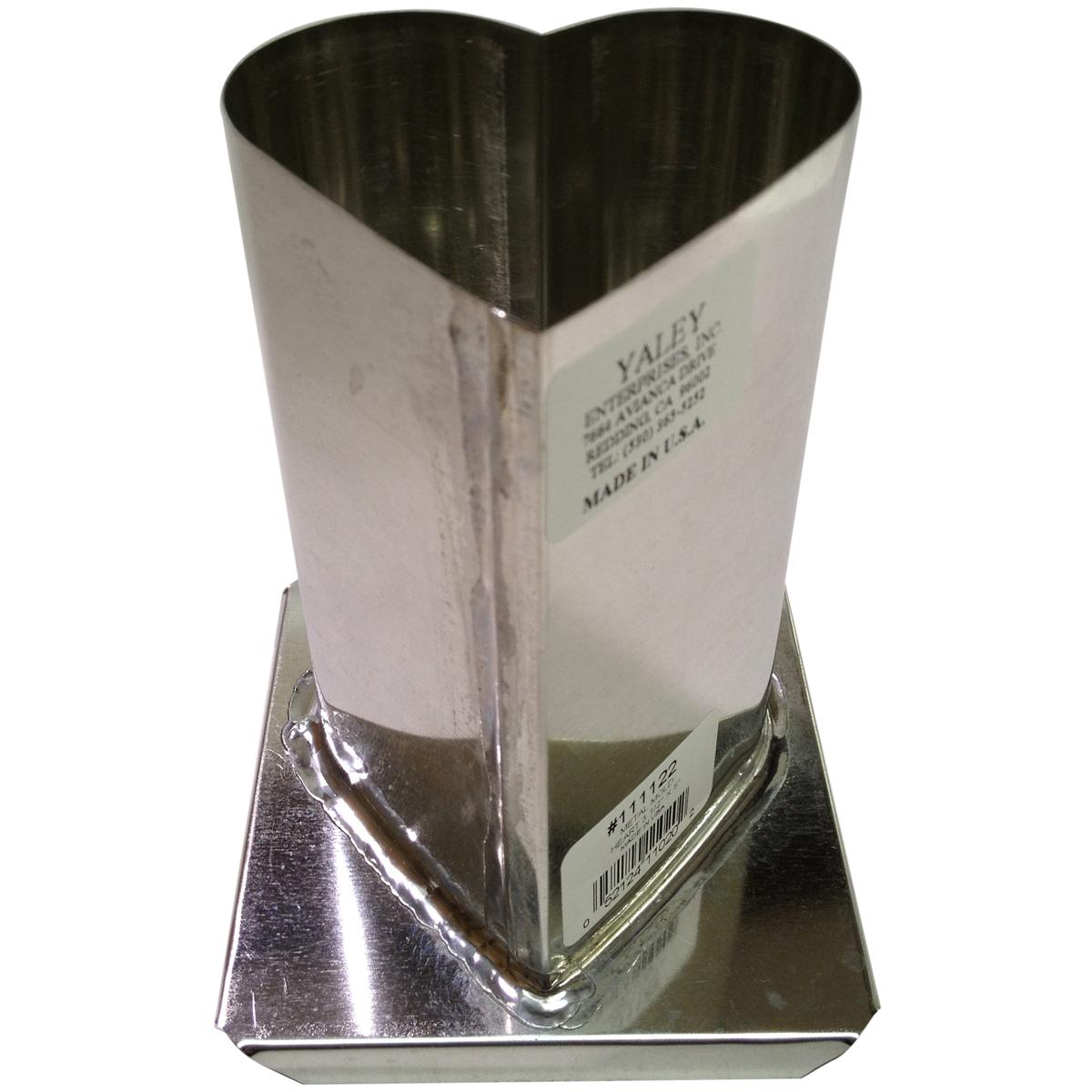 "Yaley Metal Candle Mold, Heart 3-1/4"" x 5"""