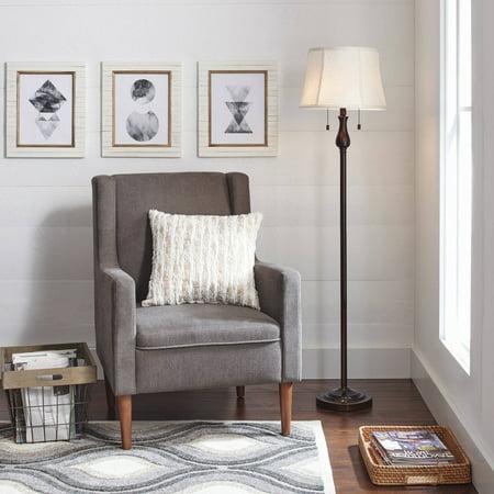 Better Homes and Gardens Steel Double Pull Chain Floor Lamp Bridge Bronze Floor Lamp