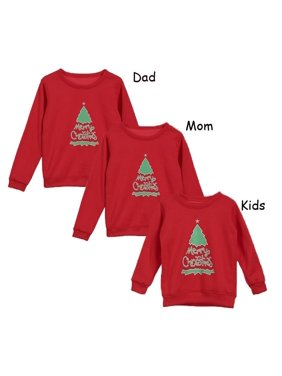 Hot New Christmas Jumper Family Matching Kid Xmas Casual Sweater Pullover Tops