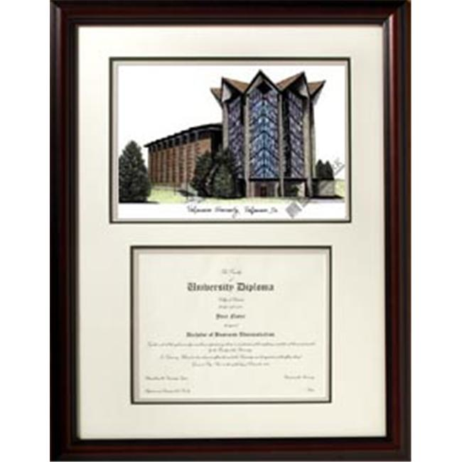 Campus Images IN991V Valparaiso University ''Scholar'' Lithograph and Diploma Frame
