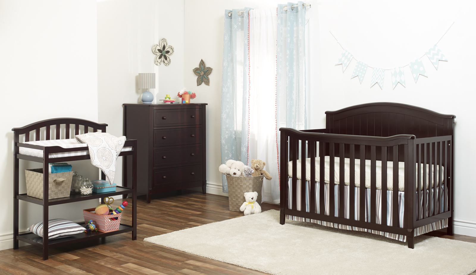 Sorelle Fairview 4 in 1 Convertible Crib, Grey by Sorelle Furniture