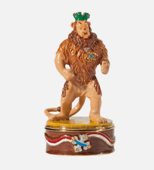 Department 56 Wizard of Oz Jeweled Trinket Box Cowardly Lion