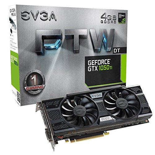 EVGA NVIDIA GeForce GTX 1050 Ti FTW DT GAMING 4GB GDDR5 DVI/HDMI/DisplayPort PCI-Express Video Card w/ ACX 3.0 Cooler