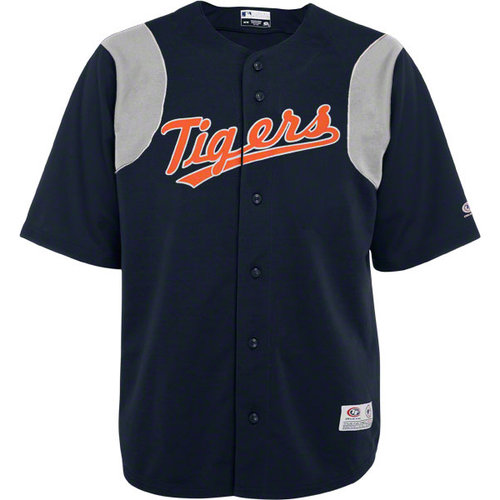 MLB - Detroit Tigers Navy Button-Down True Fan Jersey