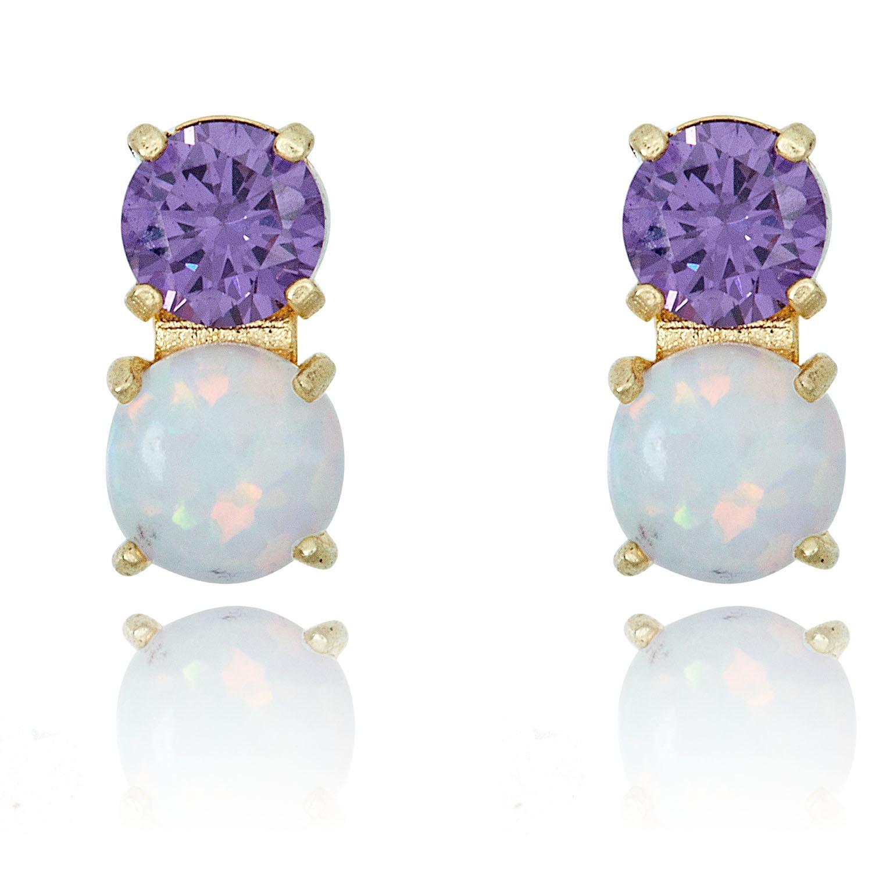 Lavender opal sparkle snake earrings