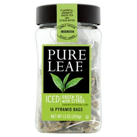 Pure Leaf glacé Thé vert avec sachets de thé d'agrumes, 16 count
