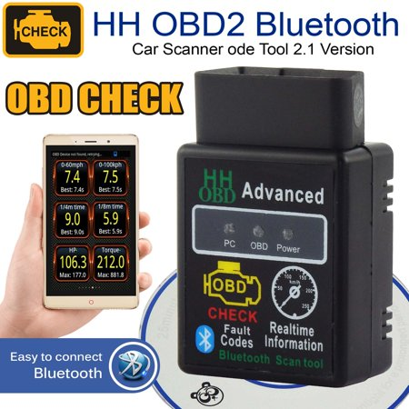 OBD2 ELM327 HH V2.1 Bluetooth Car Scanner Android Torque Auto Diagnostic