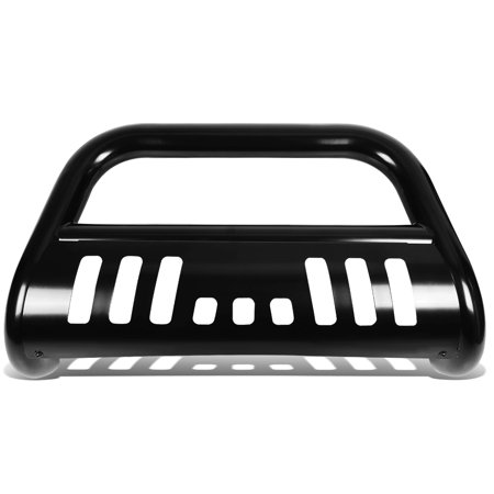"""For 2015 to 2017 Chevy Colorado / GMC Canyon Rock Crawler 3"""" Bumper Push Bull Bar + Removable Skid Plate (Black) 16"""