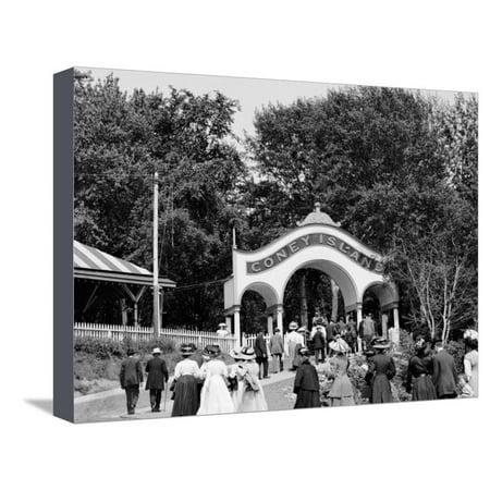 Coney Island, Entrance, Cincinnati, Ohio Stretched Canvas Print Wall - Coney Island Ohio Halloween
