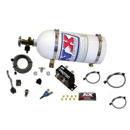 Nitrous Express 20420-10 Proton EFI Nitrous System; w/10 lb. Bottle/Brackets; 35-75