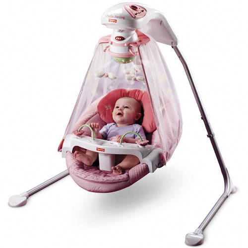 Fisher-Price - Butterfly Garden Papasan Cradle Swing