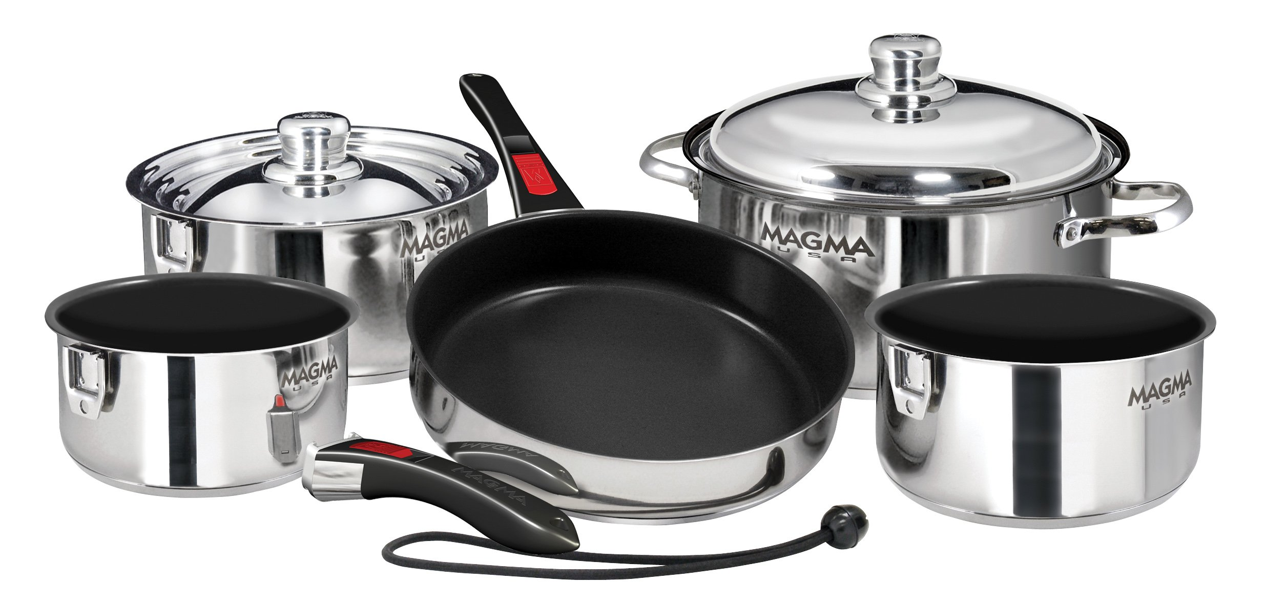 """Magma Ceramica Non-Stick 10 Piece """"Nesting"""" Cookware Set by MAGMA PRODUCTS"""