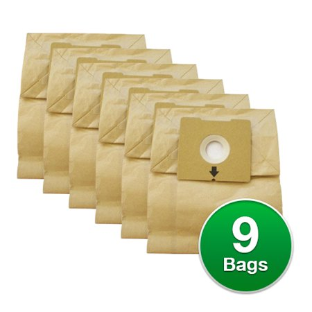 Replacement Micro Filtration Paper Vacuum Bag for Bissell Zing Bagged Canister 4122 - 3 Pack