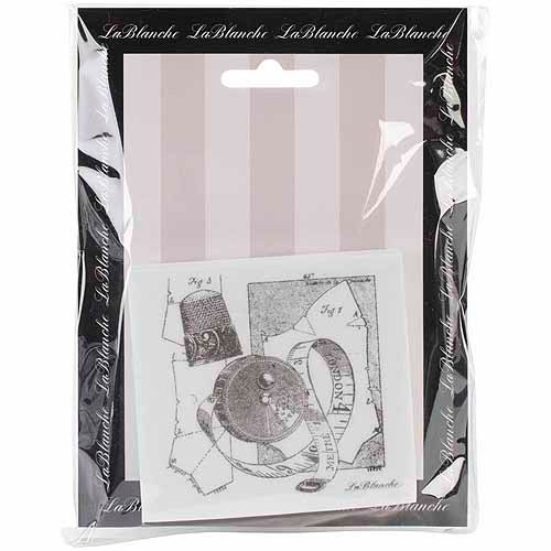 "LaBlanche Silicone Stamp, 3"" x 3-1/4"", Sewing Collection"