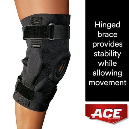 ACE Brand Hinged Knee Brace, Adjustable, Black, (Convertable Braces)