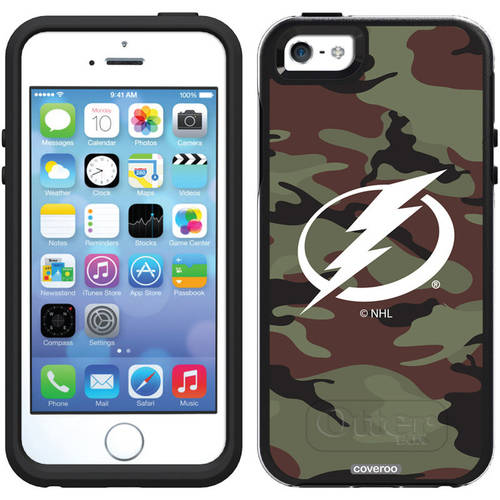 Tampa Lightning Traditional Camo Design on OtterBox Symmetry Series Case for Apple iPhone 5/5s