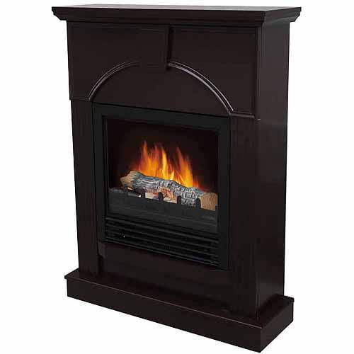 Electric Fireplace with 26 Mantle Dark Chocolate Walmartcom