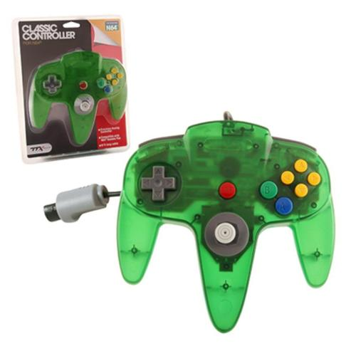 Wired Controller For Nintendo 64 System Clear Green