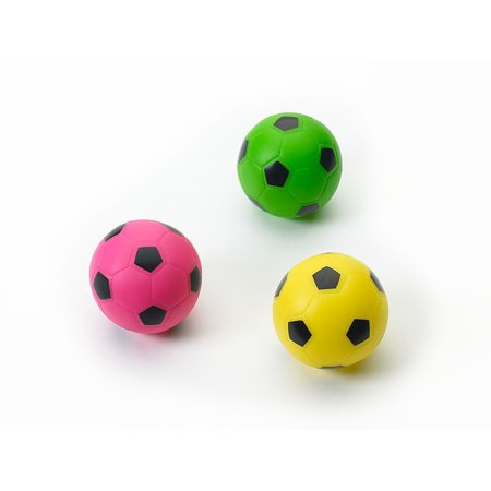 Ethical Pet Spot Soccer Ball 3 inch | Colorful Vinyl Squeaker Toy for (Pet Vinyl)