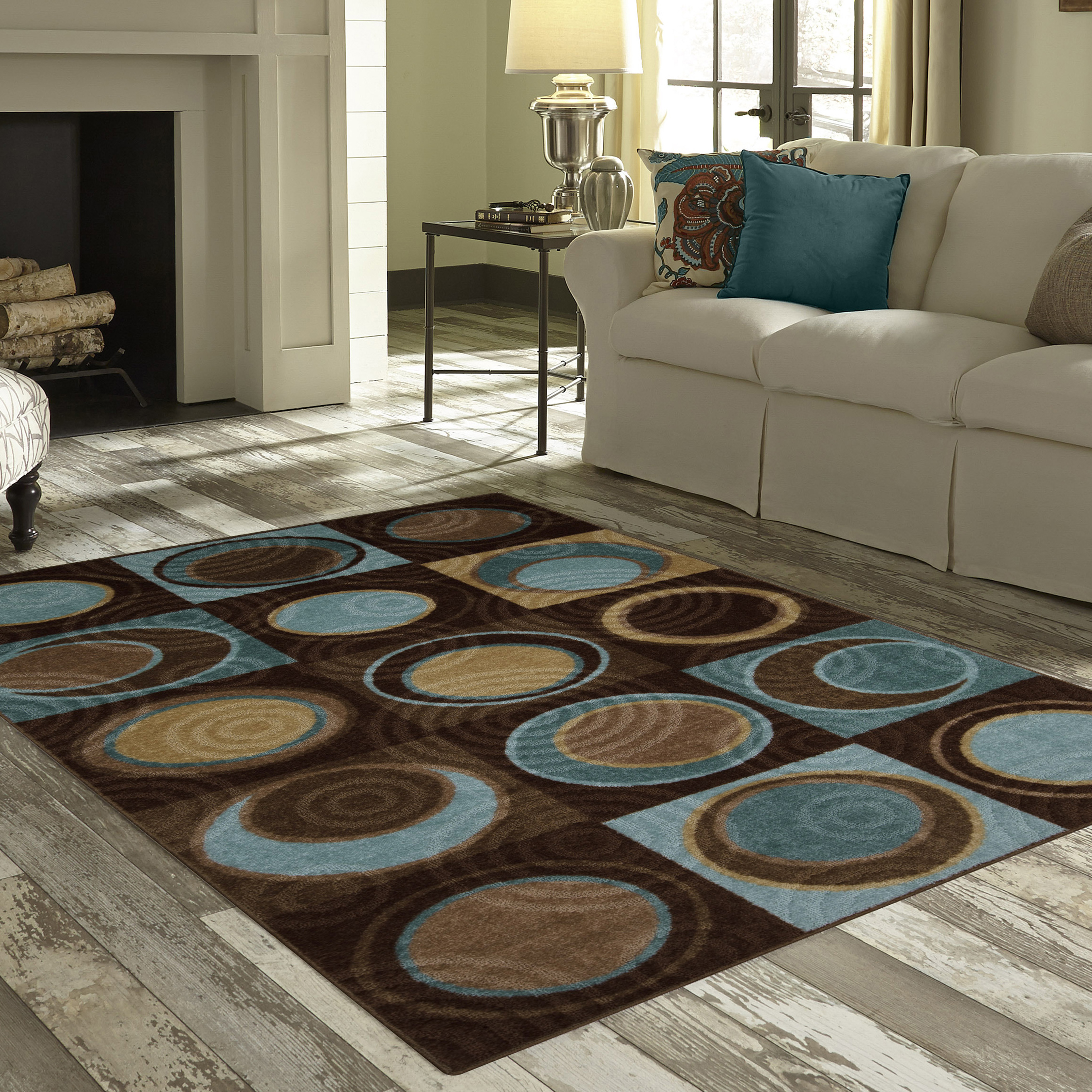 Better Homes and Gardens Circle Block Rug