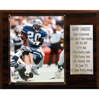 C&I Collectables NFL 12x15 Barry Sanders Detroit Lions Career Stat Plaque