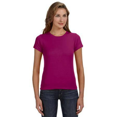 5efbfb92 Clementine Apparel - Womens 1x1 Rib Scoop Neck T-Shirt - Walmart.com