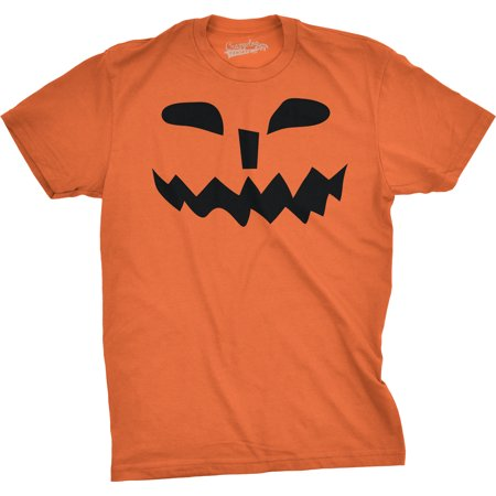 Mens Spikey Teeth Pumpkin Face Funny Fall Halloween Spooky T shirt