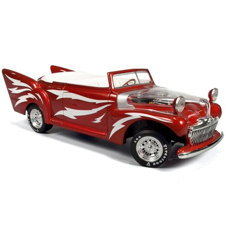 greased lightning in red w white bolts diecast model car in 1 18 scale by ertl. Black Bedroom Furniture Sets. Home Design Ideas