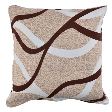Household Sofa Polyester Square Zipper Pillowcase Cushion Cover 18 x 18 Inches ()