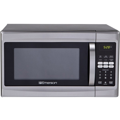 Refurbished Emerson 1.3 cu ft 1000-Watt Touch Control Microwave Oven, Stainless Steel by EMERSON