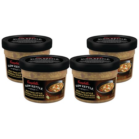 (3 Pack) Campbell'sàSlow Kettle Style Spicy Thai-Style Chicken & Wild Rice Soup with White Chicken Meat, 15.5