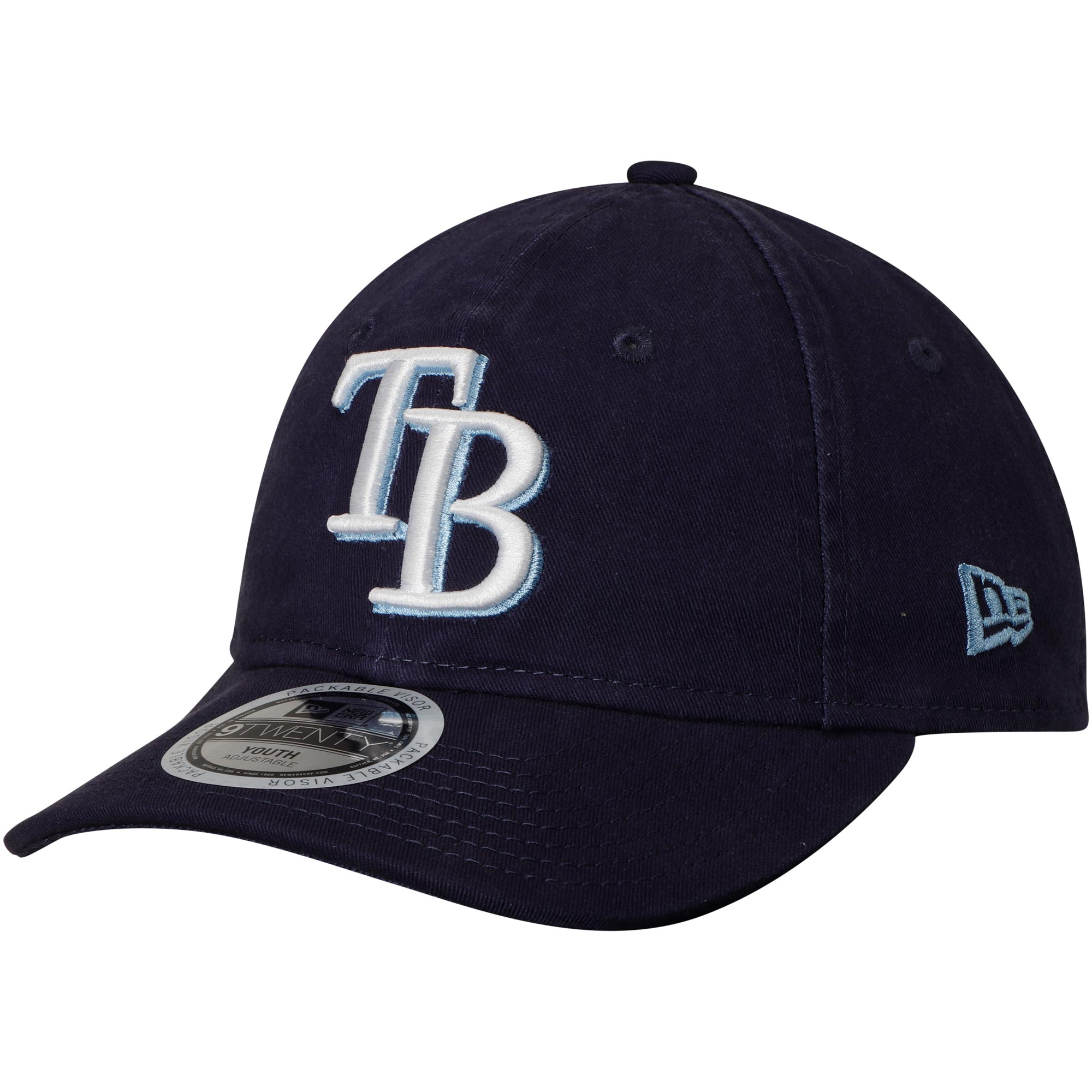 pretty nice bd598 b62bd Tampa Bay Rays New Era Youth Core Classic 9TWENTY Adjustable Hat ...