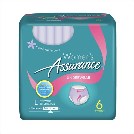 Assurance Incontinence Underwear For Women  Maximum  L  6 Ct
