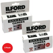 2 Pack Ilford XP2 Super Single Use Black and White Film Camera, 27 Exposures