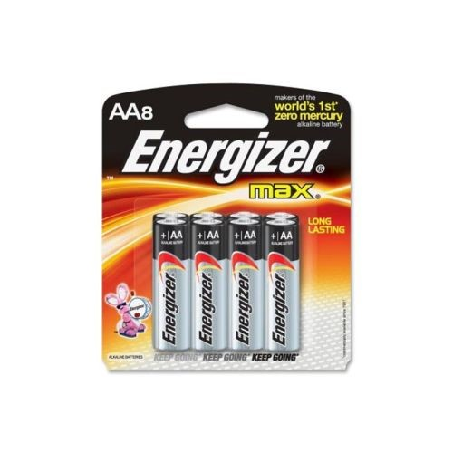 Energizer Max Alkaline AAA Batteries 8-Pack E92MP-8