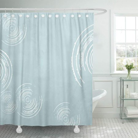 KSADK 1950S Retro Abstract Blue Circle 1960S 1970S 1980S 50S 60S 70S 80S Bathroom Shower Curtain 60x72 (60's 70's 80's Fancy Dress Costumes)